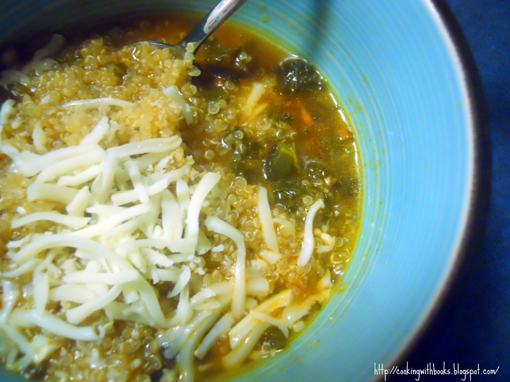 Kale-Chorizo Soup - Get the recipe on Cooking with Books