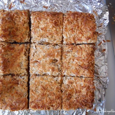 Brown Sugar Coconut Chocolate Bars