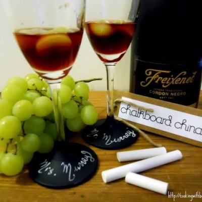 Pomegranate Sparkle & Chalkboard China