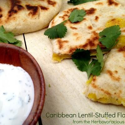 Herbivoracious: Caribbean Lentil-Stuffed Flatbread recipe & Giveaway!