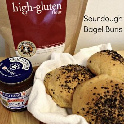 Sourdough Bagel Buns