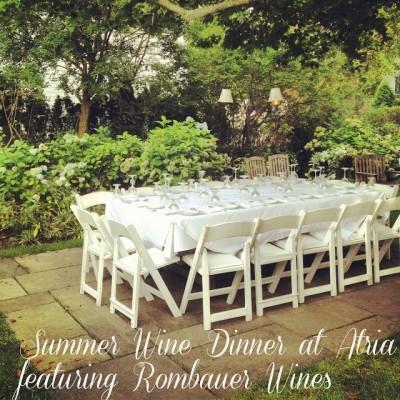 Rombauer Summer Wine Dinner at Atria