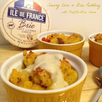 Savory Bread Pudding: Brie Cornbread