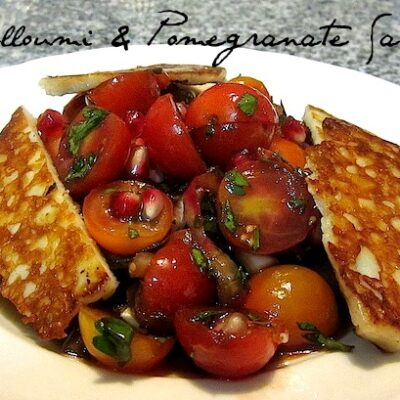Wednesdays with…Halloumi & Pomegrate Salad