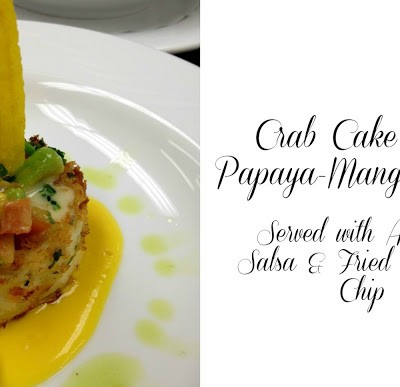 Caribbean Crab Cakes w/ Papaya-Mango Soup