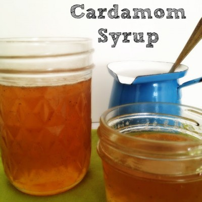 Pear and Cardamom Syrup