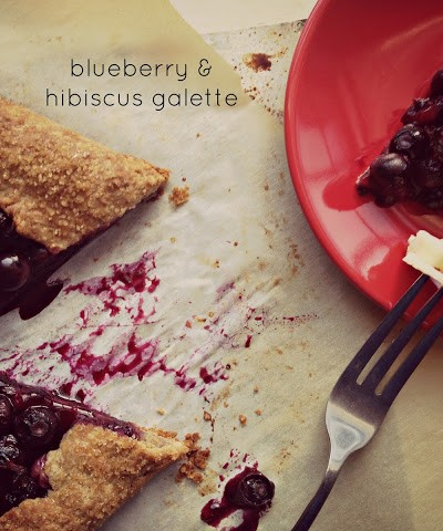 Chilean Blueberry and Hibiscus Galette