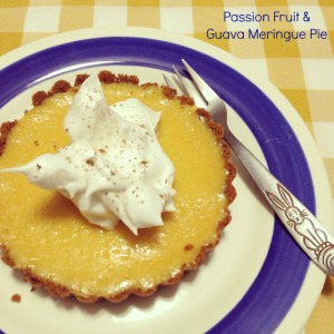 Passion Fruit & Guava Meringue Pie