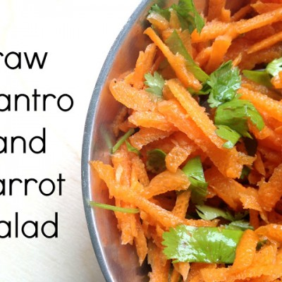 Cilantro Carrot Salad {Eating Raw}