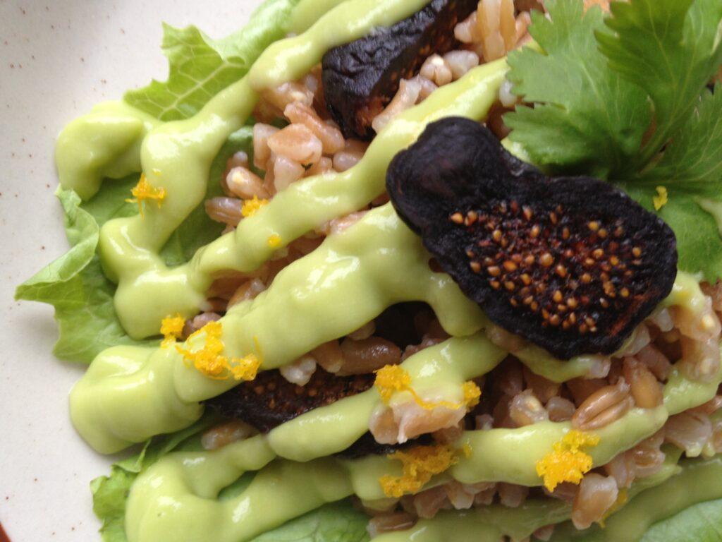 Farro & Fig Salad with Avocado-Orange Dressing 1
