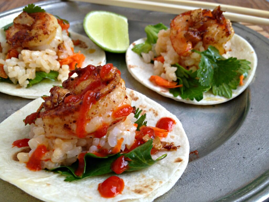 Asian Shrimp Tacos 3