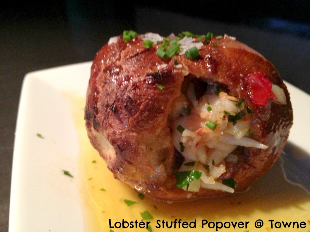 Lobster Stuffed Popover at Towne