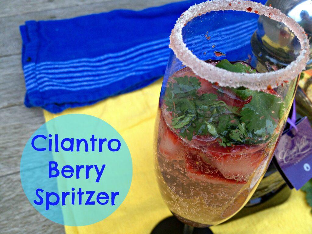 Cilantro Berry Spritzer