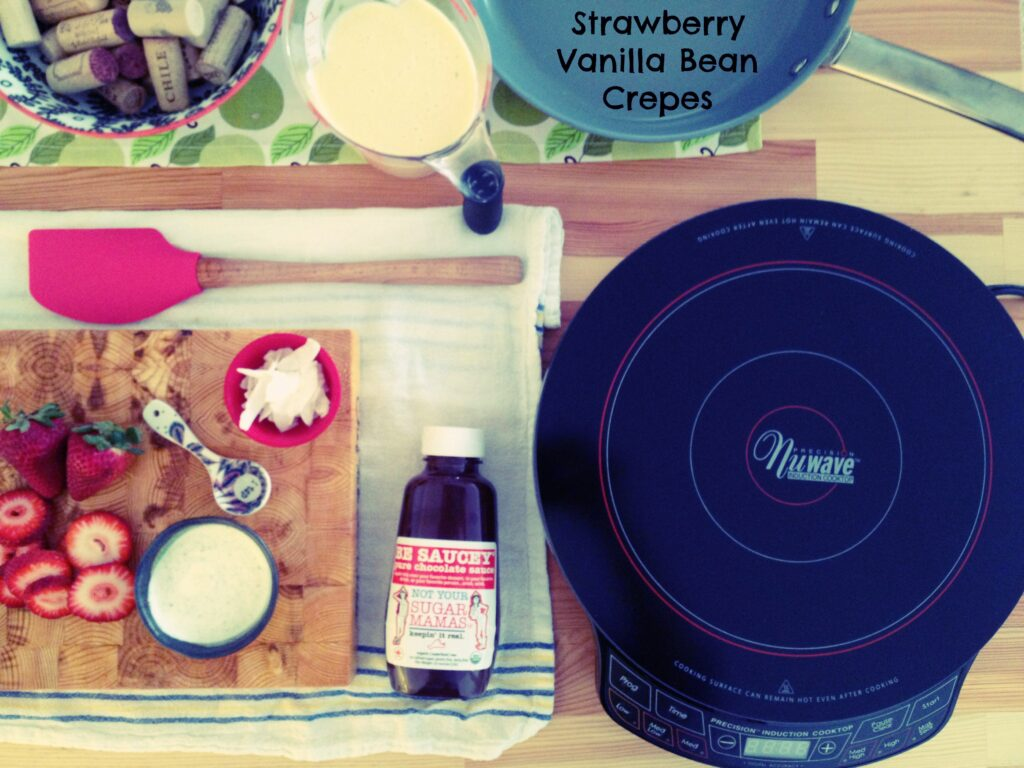 Strawberry Crepes using Nuwave Induction Burner 2