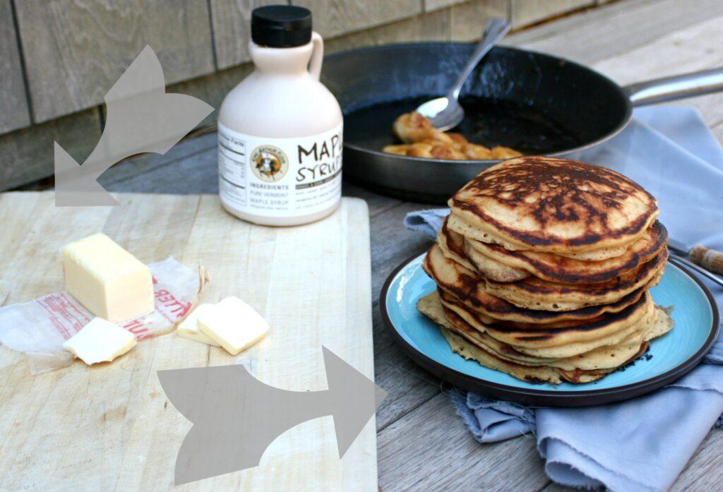 Bananas Foster Whole Wheat Pancakes 3