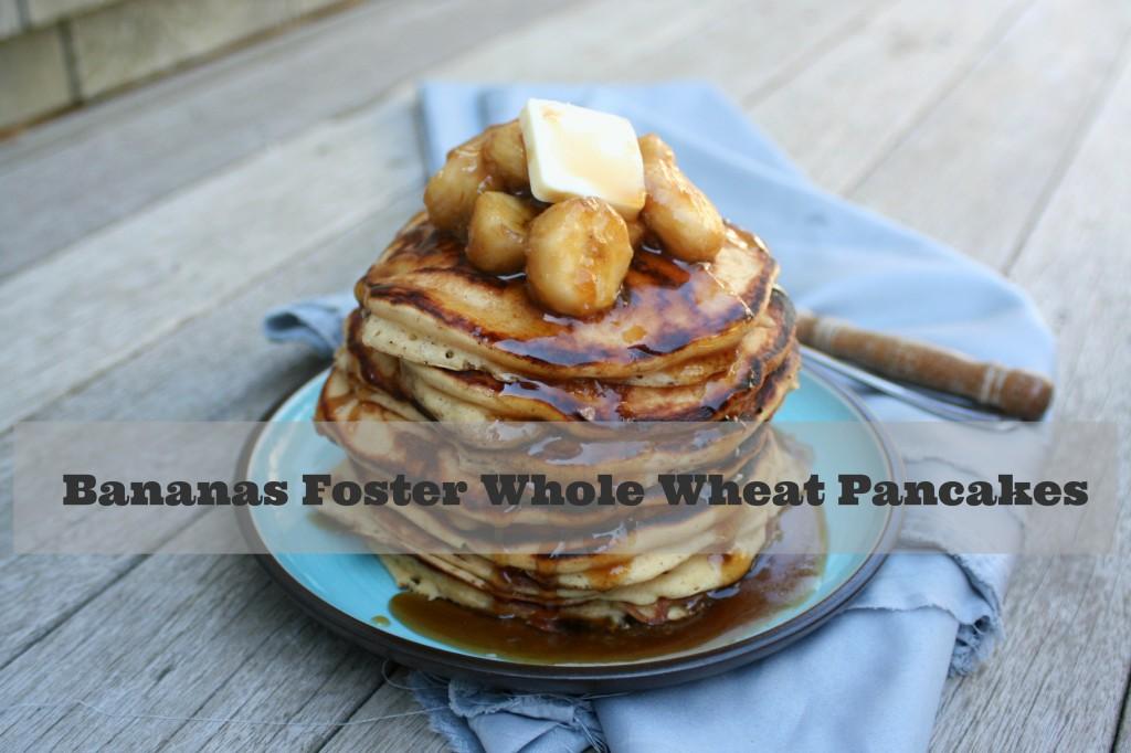 Bananas Foster Whole Wheat Pancakes 2