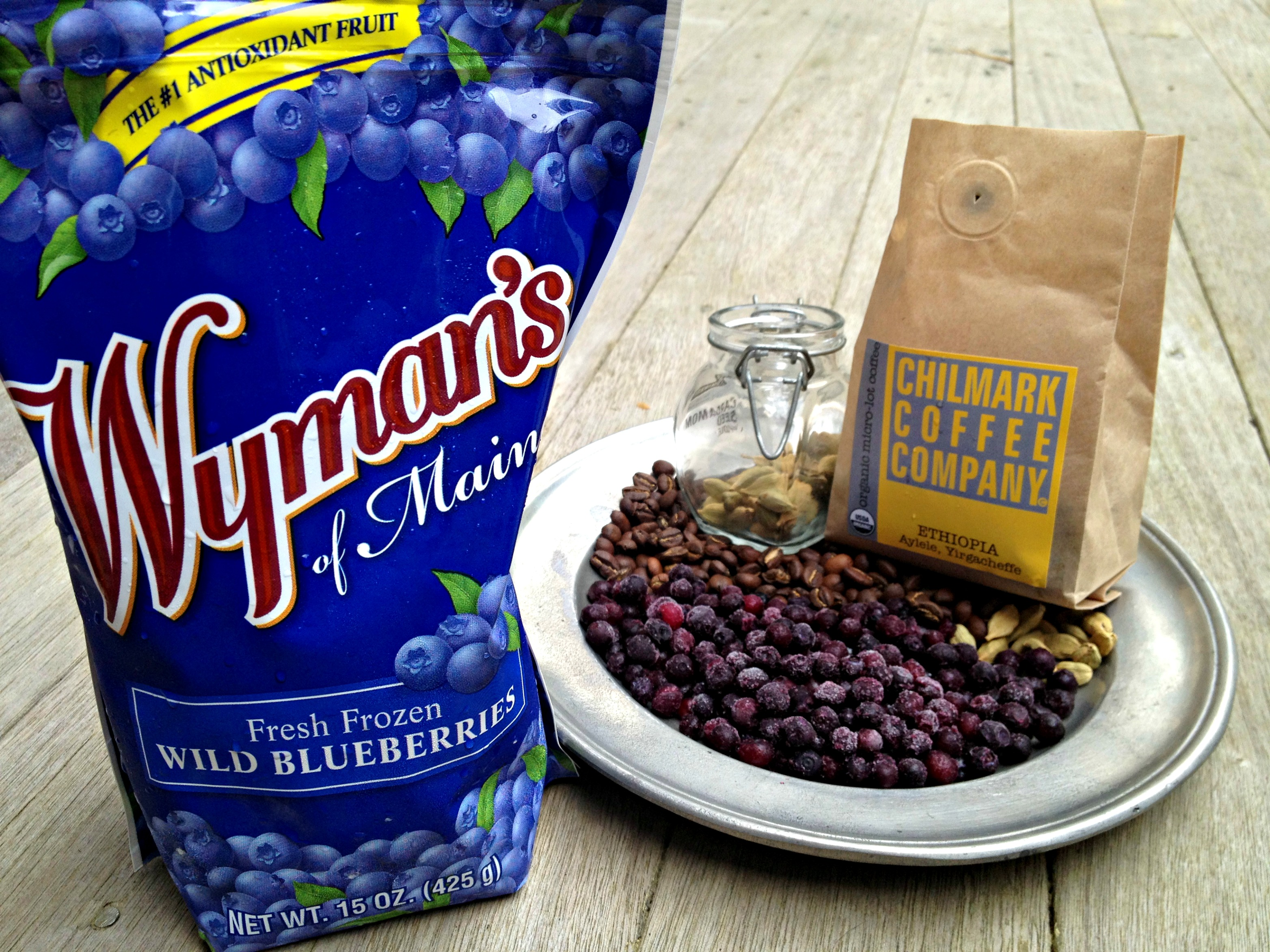 Vietnamese Wild Blueberry Iced Coffee - Cooking with Books