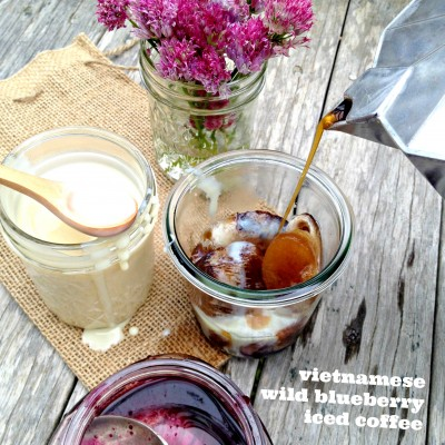 Vietnamese Wild Blueberry Iced Coffee
