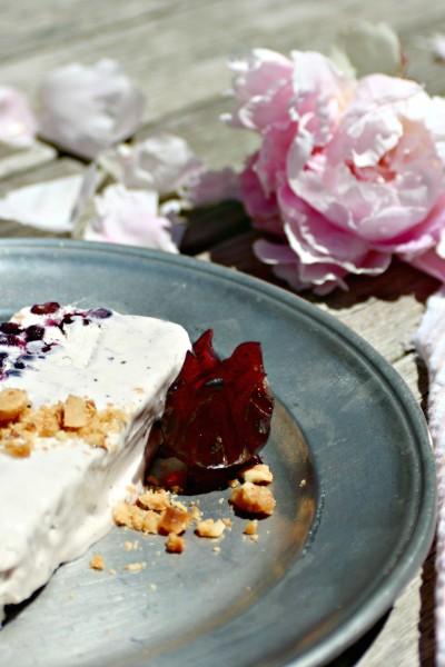 Hibiscus Blueberry & Macadamia Semifreddo