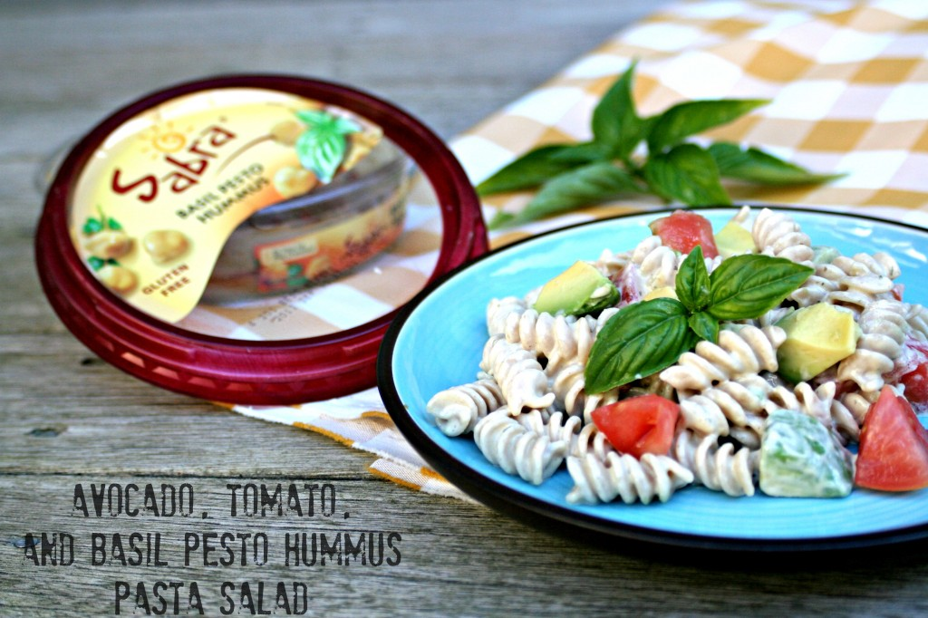 Avocado Tomato Basil Pesto Hummus Pasta Salad | Cooking with Books