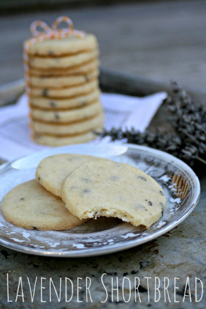 Lavender Shortbread Cookies by Cooking with Books