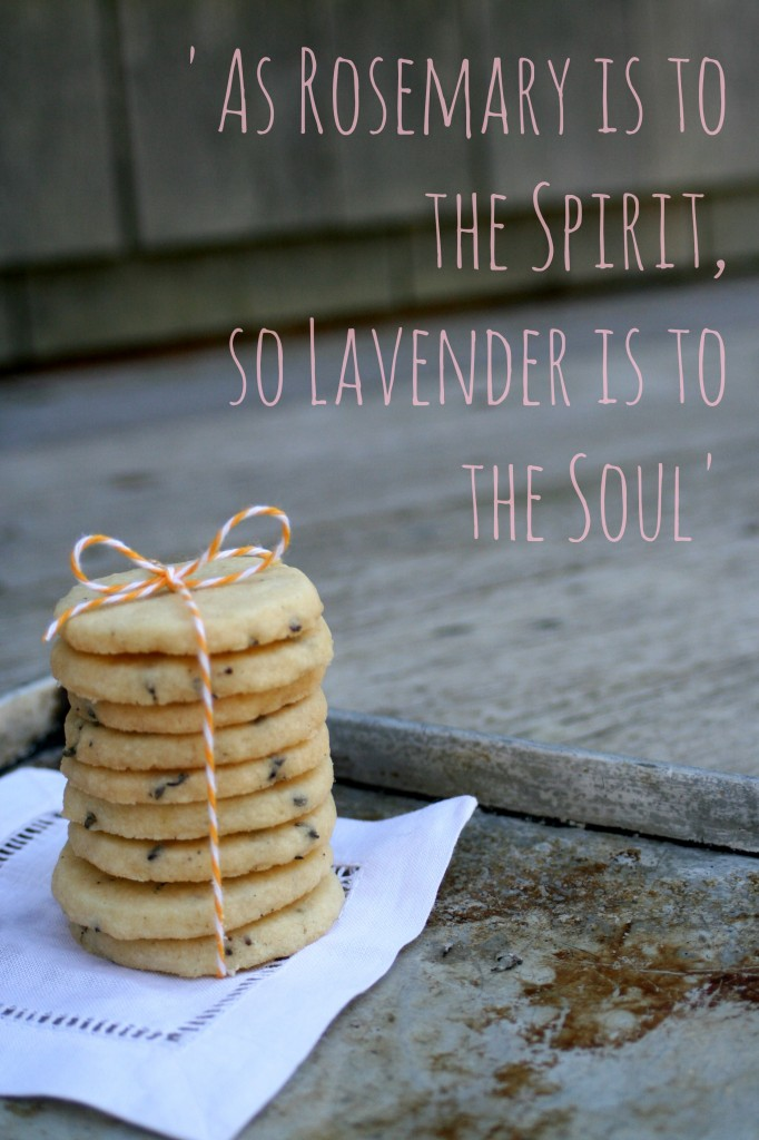 Lavender Shortbread Cookies by Cooking with Books quote