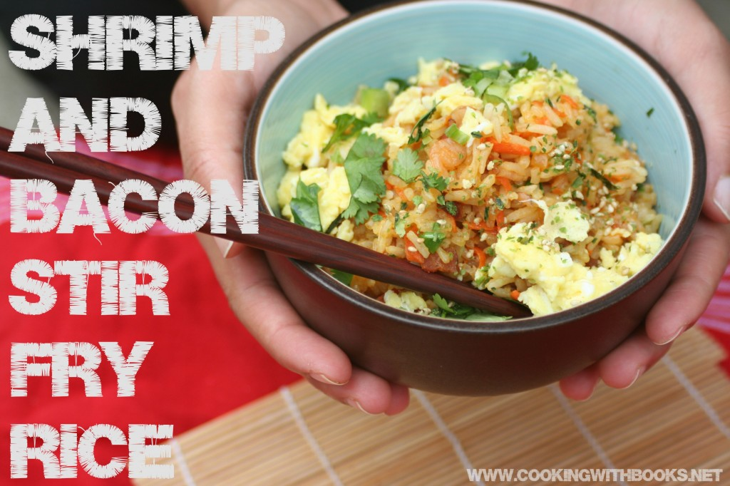 Shrimp and Bacon Stir Fry Rice