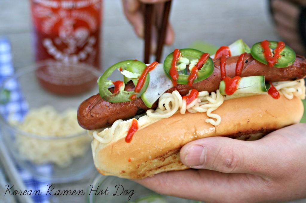 Korean Ramen Hot Dog
