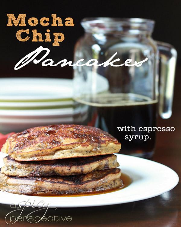 Mocha-Chip-Pancakes