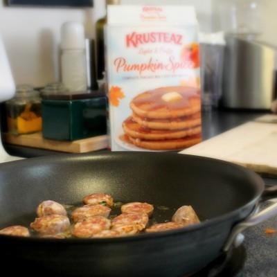 Pumpkin Spice Sausage Pancakes