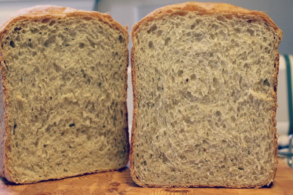 Italian 9-Grain Bread - This is a bread machine recipe that is perfect for using as sandwich bread! Recipe on CookingWithBooks.net