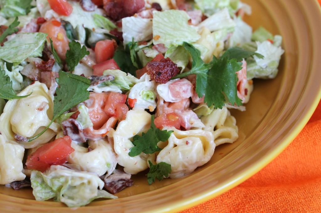 BLT Tortellini Salad Dish