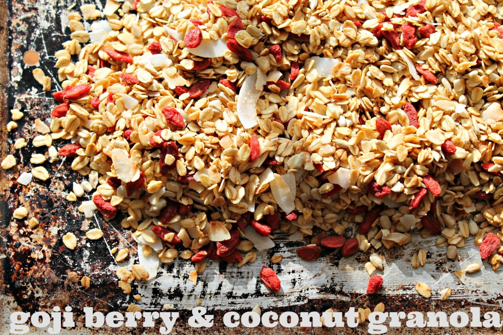 goji berry and coconut granola