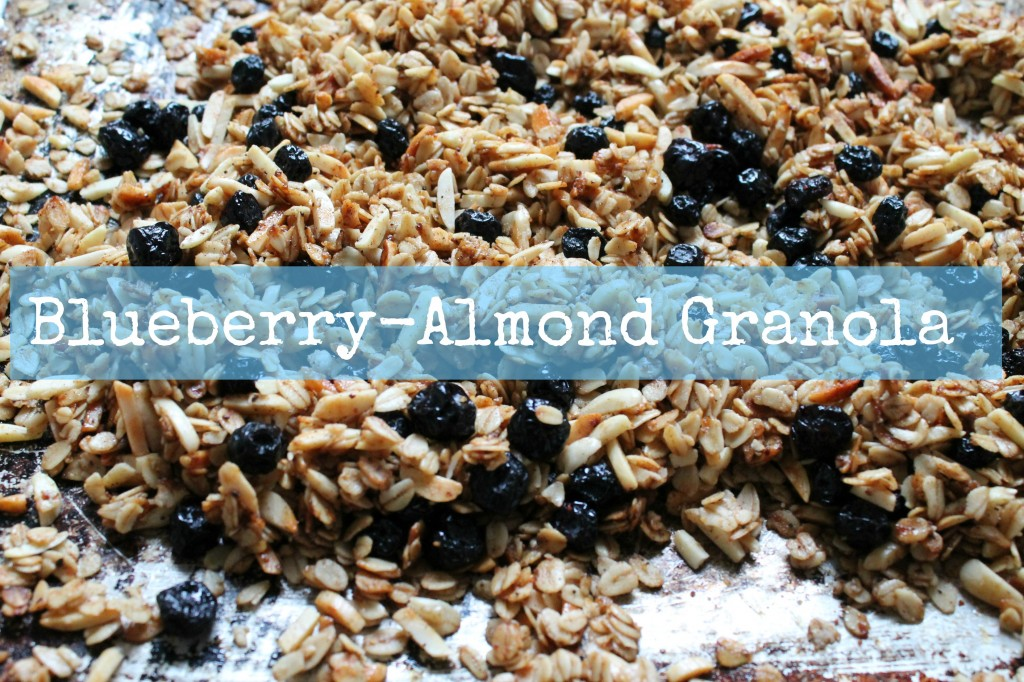 Blueberry-Almond Granola Parfait guest post from Cook with Books for KatiesCucina.com