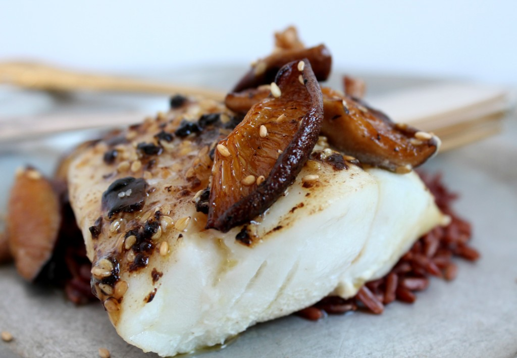 Black Garlic, Sesame, & Shiitake Cod Fish