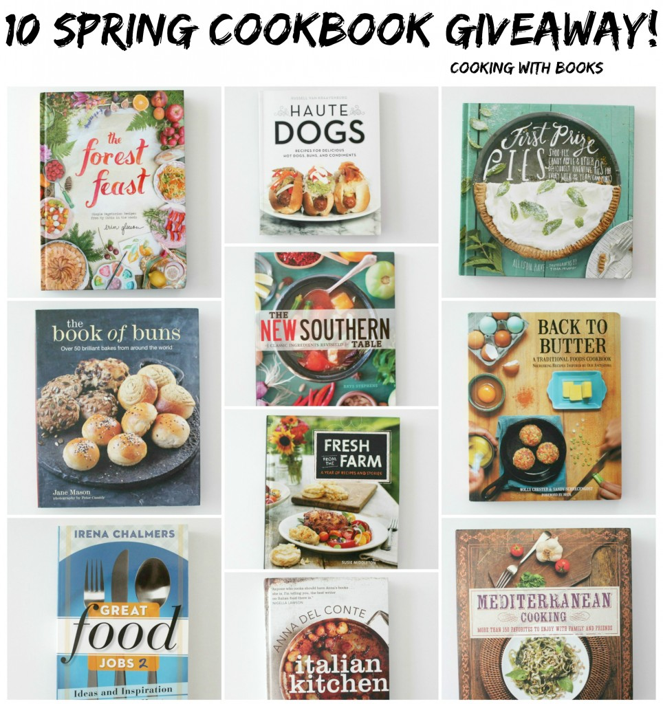 10 Spring Cookbook Giveaway on Cooking with Books
