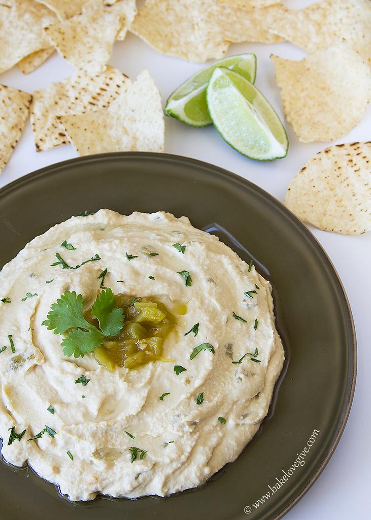Green Chile Lime Hummus