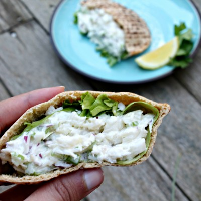 Cod Salad Pita Pockets