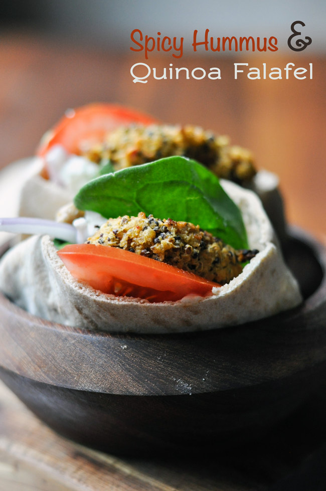 Quinoa-Hummus-Falafel