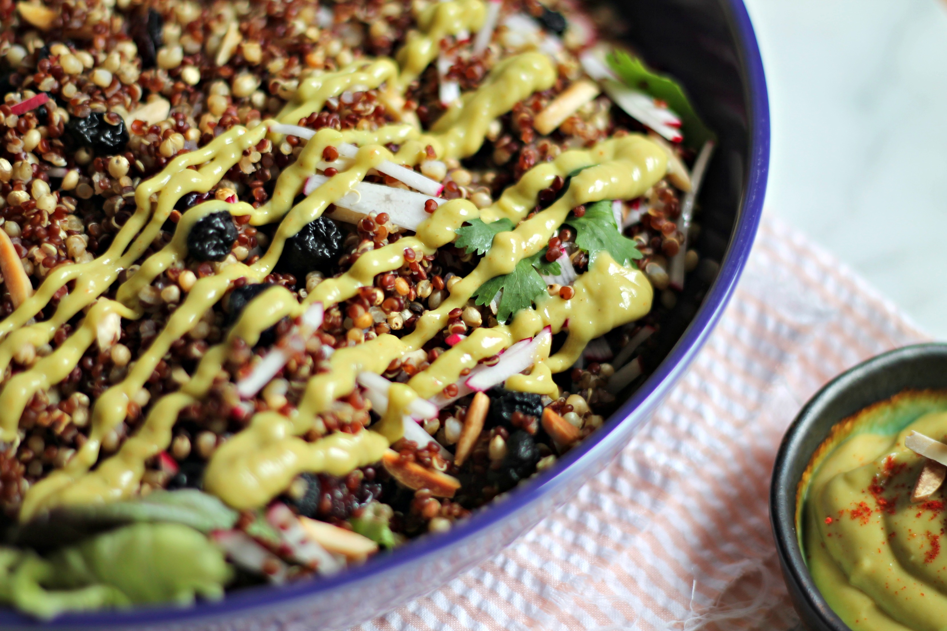 Spiced Grain Salad with Avocado Raspberry-Chipotle ...