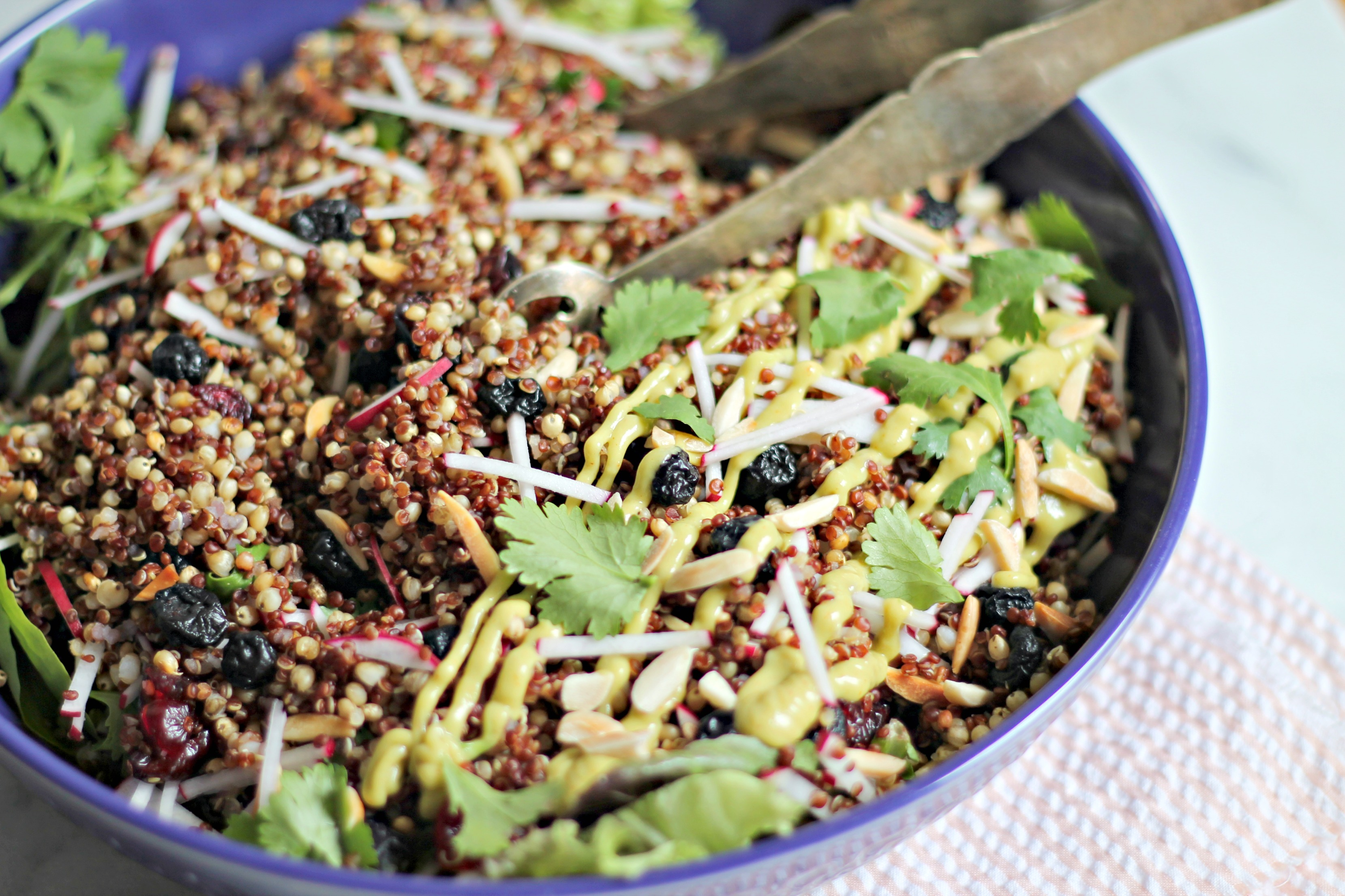 Spiced Grain Salad with Avocado Raspberry-Chipotle Dressing - Cooking ...
