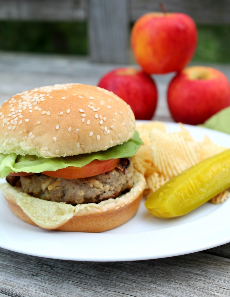Grilled Apple Turkey Burgers recipe