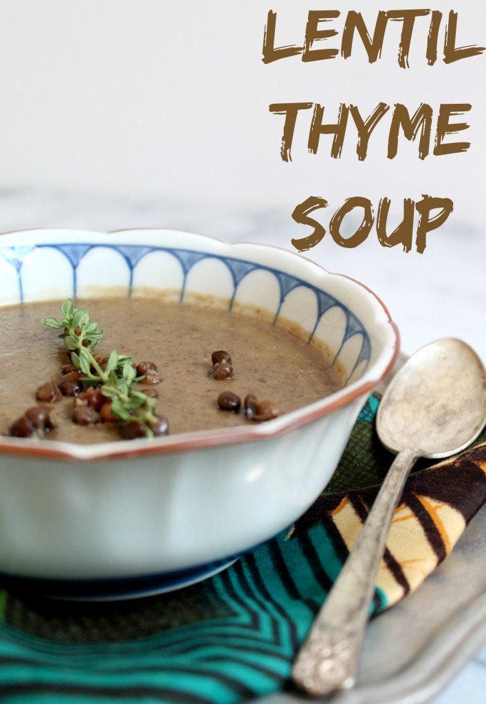 Lentil Thyme Soup recipe