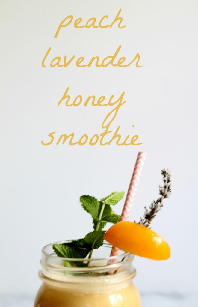 Peach Lavender Honey Smoothie 01