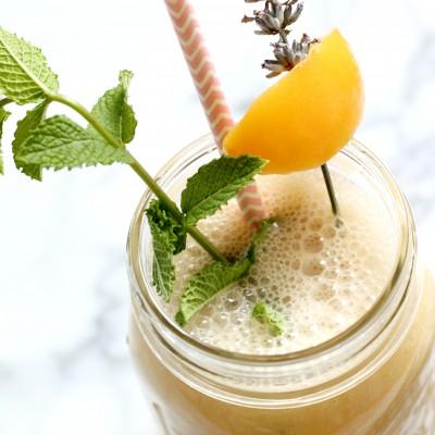 Peach Lavender Honey Smoothie