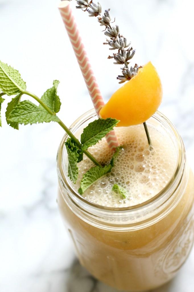 Peach Lavender Honey Smoothie 02