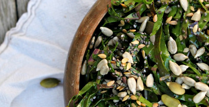 Raw Kale and Seed Salad 02