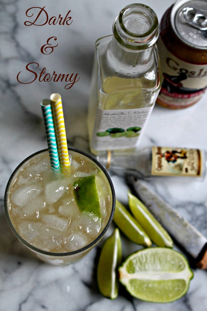 Dark and Stormy Rum Cocktail 01