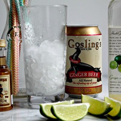 Dark & Stormy Rum Cocktail