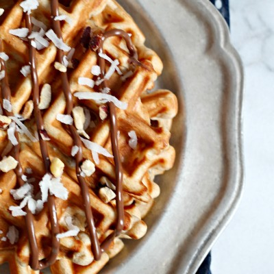 Hazelnut & Coconut Whole Wheat Waffles